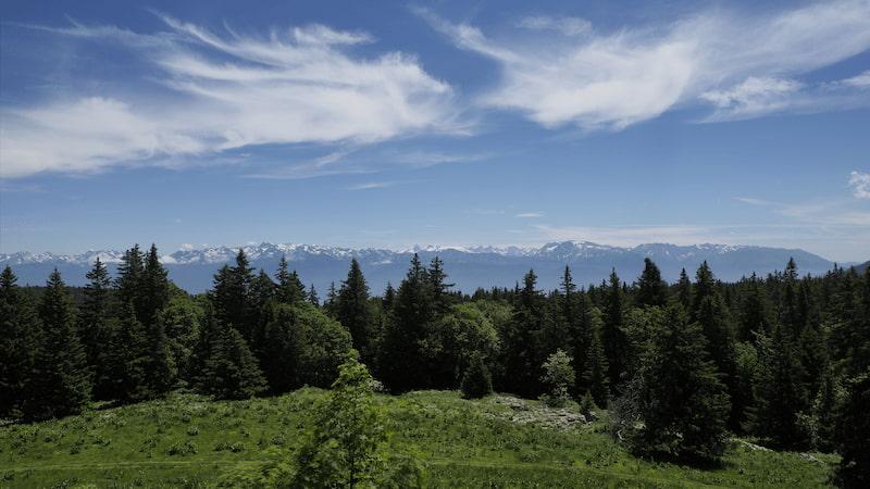 Massif montagneux de Belledone en Isère